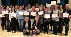 New NBO trainees in Lillehammer, Norway with Kari Slinning and Nancy Moss.