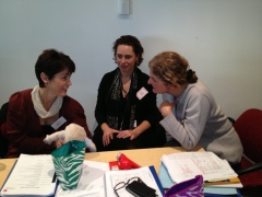 Drs. Nicole Milburn, Susan Nicholson (NBO Trainer) & Ines Rio at the NBO training.