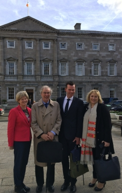 Leinster House, Dublin: From left: Catherine Maguire, J. Kevin Nugent, Paul D'Alton, Aoife Menton