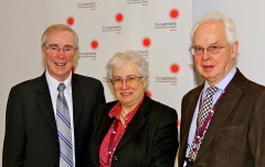 Professors Nugent, Judd and Campbell at the opening of the NBO Australia Centre at Royal women's Hospital, Melbourne.