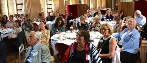 (l to r. at front table) Berry Brazelton, Lise Johnson, Jayne Singer, Karin Stjernqvist, Hanne Munck, Beulah Warren, Ann Stadtler, Una Nugent, Connie Keefer and Claudia Quigg