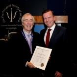 Dr. Paul D'Alton presents Professor Nugent with the 2015 Presidential citation.