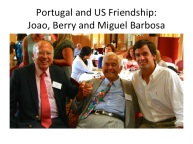 Joao Gomes Pedro, Berry Brazelton and Miguel Barbosa