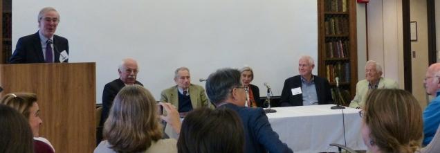 From left: Kevin Nugent, Leonard Rappaport, Jerome Kagan, Heidelise Als, Jack Shonkoff and Berry Brazelton.
