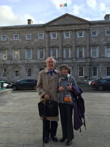 Kevin and Una Nugent at the Irish Parliament (Oireachtas)